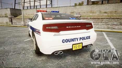 GTA V Bravado Buffalo Liberty Police [ELS] para GTA 4 Vista posterior izquierda