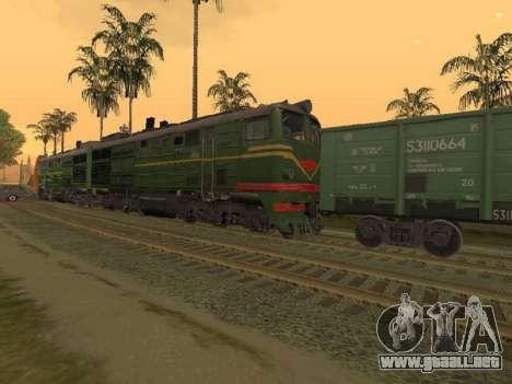 Locomotora 2TE10L-079 para GTA San Andreas left