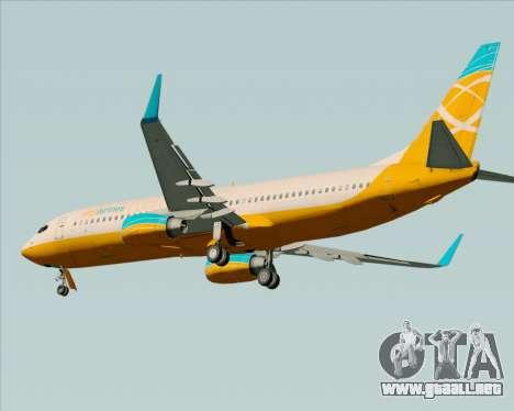Boeing 737-800 Orbit Airlines para GTA San Andreas vista hacia atrás