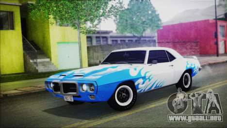 Pontiac Firebird Trans Am Coupe (2337) 1969 para vista lateral GTA San Andreas