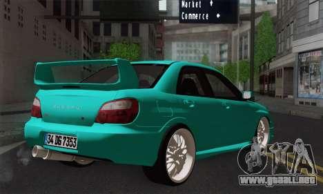 Subaru Impreza RC para GTA San Andreas left