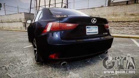 Lexus IS 350 F-Sport 2014 Rims2 para GTA 4 Vista posterior izquierda