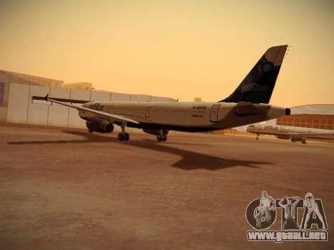 Airbus A321-232 jetBlue La vie en Blue para GTA San Andreas vista posterior izquierda