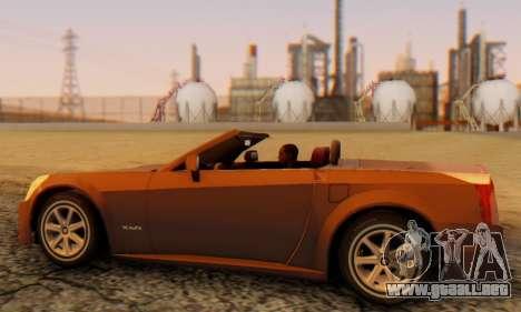 Cadillac XLR para GTA San Andreas vista posterior izquierda
