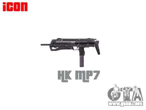 Subametralladora HK MP7 para GTA 4 tercera pantalla
