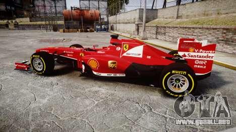 Ferrari F138 v2.0 [RIV] Alonso TSD para GTA 4 left