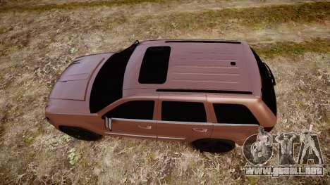Jeep Grand Cherokee SRT8 rim lights para GTA 4 visión correcta