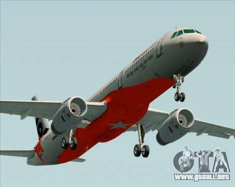 Airbus A321-200 Jetstar Airways para el motor de GTA San Andreas