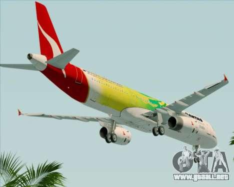 Airbus A321-200 Qantas (Socceroos Livery) para vista lateral GTA San Andreas