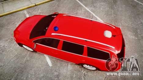 Volkswagen Passat 2014 Unmarked Police para GTA 4 visión correcta