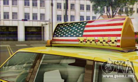 VAPID Huntley Taxi (Saints Row 4 Style) para GTA San Andreas vista posterior izquierda
