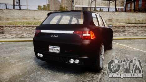 GTA V Obey Rocoto para GTA 4 Vista posterior izquierda