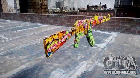 АК-47 graffiti camo para GTA 4 segundos de pantalla