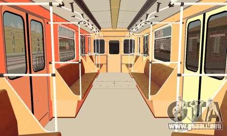 Metrophage tipo 81-717 para vista lateral GTA San Andreas