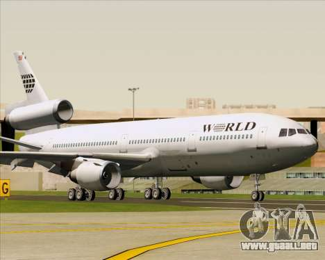 McDonnell Douglas DC-10-30 World Airways para GTA San Andreas left