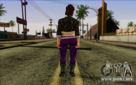 Shaundi from Saints Row The Third para GTA San Andreas segunda pantalla
