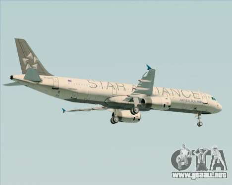 Airbus A321-200 Air New Zealand (Star Alliance) para el motor de GTA San Andreas