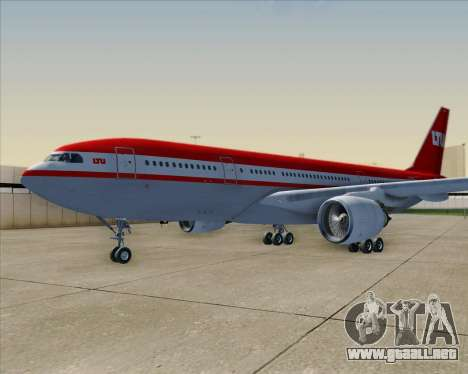Airbus A330-200 LTU International para las ruedas de GTA San Andreas