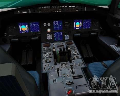 Airbus A321-200 Qantas (Socceroos Livery) para GTA San Andreas interior