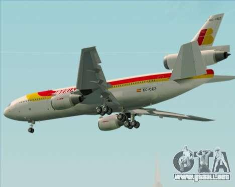 McDonnell Douglas DC-10-30 Iberia para la visión correcta GTA San Andreas