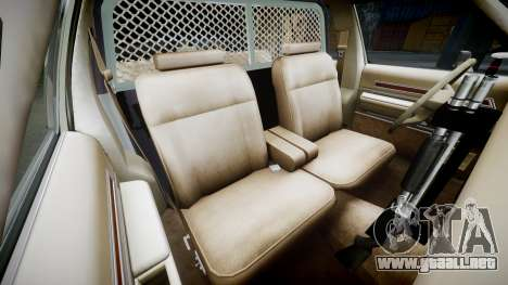 Ford LTD Crown Victoria 1987 Police CHP2 [ELS] para GTA 4 vista interior