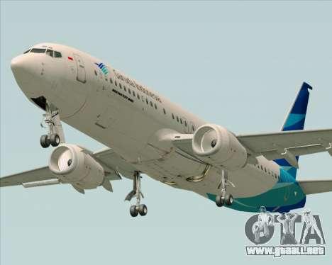 Boeing 737-800 Garuda Indonesia para GTA San Andreas interior