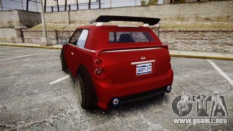 GTA V Weeny Issi Tuned para GTA 4 Vista posterior izquierda