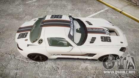 Mercedes-Benz SLS AMG GT-3 low para GTA 4 visión correcta