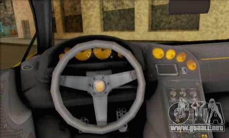 Pegassi Vacca (HQLM) para GTA San Andreas vista posterior izquierda