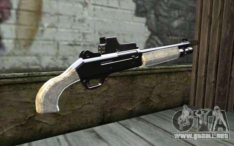Silver Shotgun para GTA San Andreas segunda pantalla
