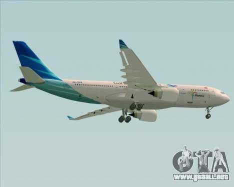 Airbus A330-243 Garuda Indonesia para visión interna GTA San Andreas