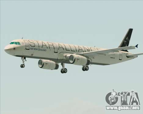 Airbus A321-200 Air New Zealand (Star Alliance) para las ruedas de GTA San Andreas