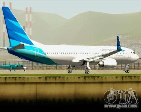Boeing 737-800 Garuda Indonesia para la vista superior GTA San Andreas