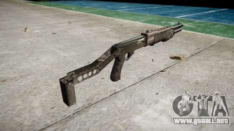 Ружье Franchi SPAS-12 Kryptek Tifón para GTA 4 segundos de pantalla