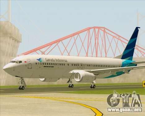 Boeing 737-800 Garuda Indonesia para GTA San Andreas left