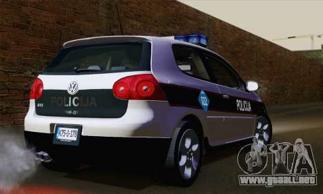 Volkswagen Golf 5 (ELM) para GTA San Andreas left