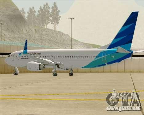 Boeing 737-800 Garuda Indonesia para el motor de GTA San Andreas