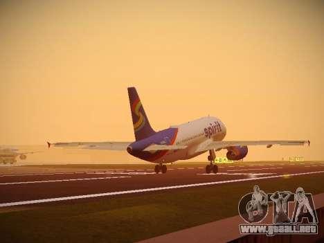 Airbus A319-132 Spirit Airlines para las ruedas de GTA San Andreas