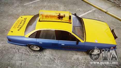 Vapid Stanier Taxi DCC para GTA 4 visión correcta