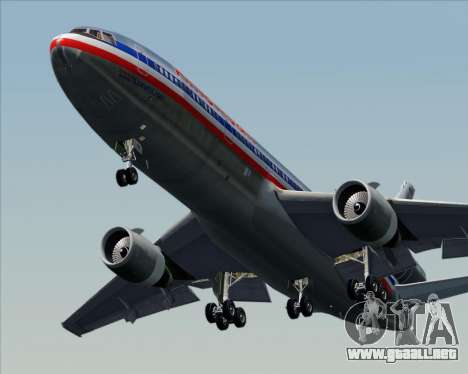 McDonnell Douglas DC-10-30 American Airlines para la vista superior GTA San Andreas