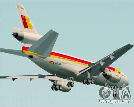 McDonnell Douglas DC-10-30 Iberia para la vista superior GTA San Andreas