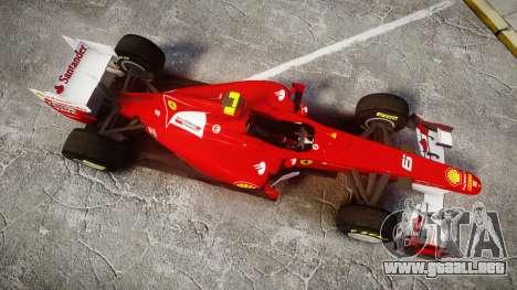 Ferrari 150 Italia Massa para GTA 4 visión correcta