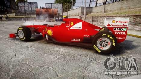 Ferrari 150 Italia Massa para GTA 4 left