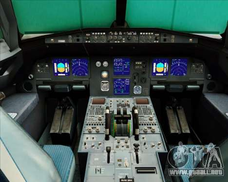 Airbus A321-200 Air Busan para GTA San Andreas interior
