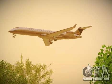 Bombardier CRJ-700 Continental Express para la visión correcta GTA San Andreas