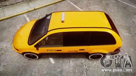 Schyster Cabby Taxi para GTA 4 visión correcta