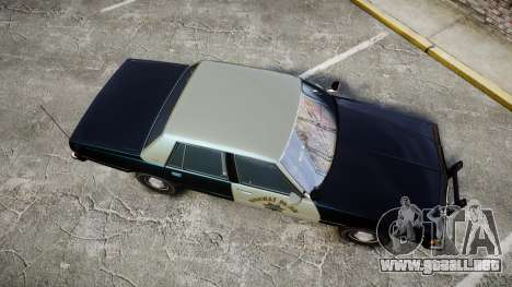 Chevrolet Caprice 1986 Brougham Police [ELS] para GTA 4 visión correcta