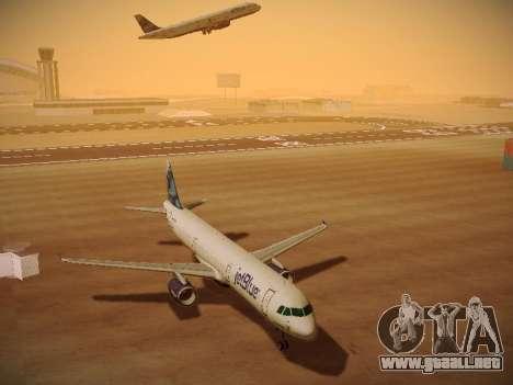 Airbus A321-232 jetBlue La vie en Blue para visión interna GTA San Andreas