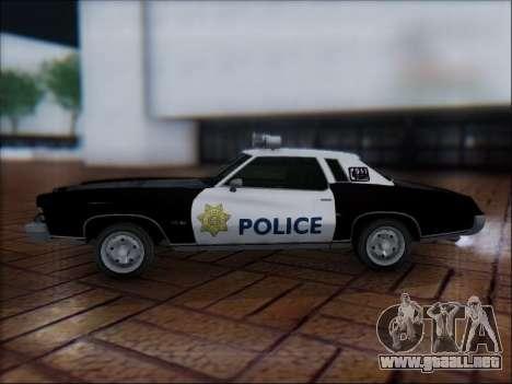 Chevrolet Monte Carlo 1973 Police para GTA San Andreas left