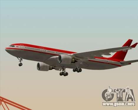 Airbus A330-200 LTU International para vista lateral GTA San Andreas